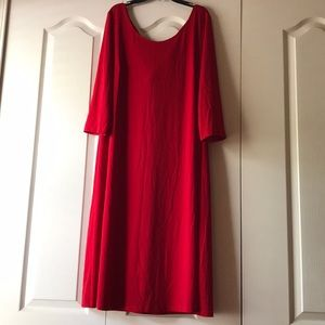 Roamans red long sleeves cocktail dress